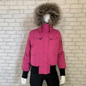 NOIZE bomber ski/winter faux fur hooded jacket - S